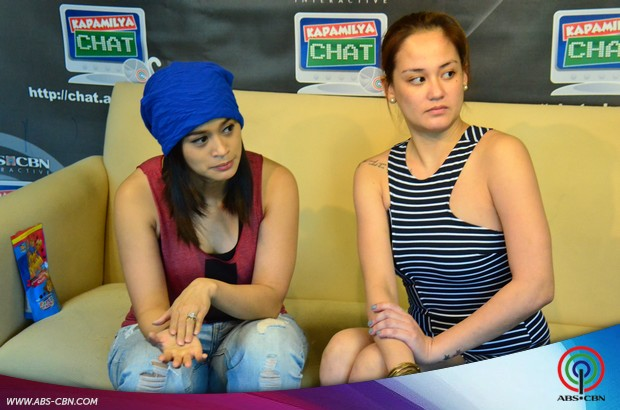Bridges of Love beauties Max Eigenmann and Jopay Paguia at the Kapamilya Chat